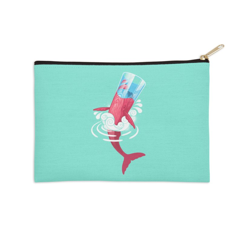 Whale Accessories Zip Pouch by eleken's Artist Shop