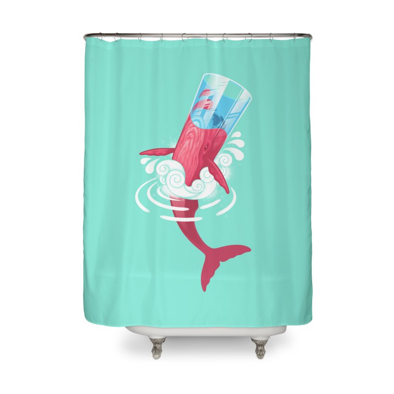 Whale Home Shower Curtain by eleken's Artist Shop