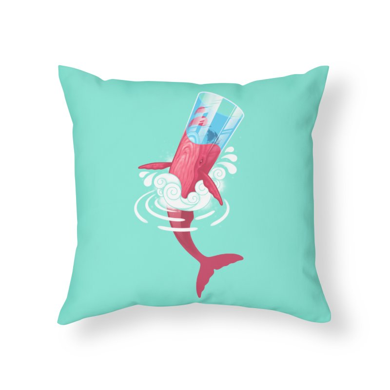 Whale Home Throw Pillow by eleken's Artist Shop