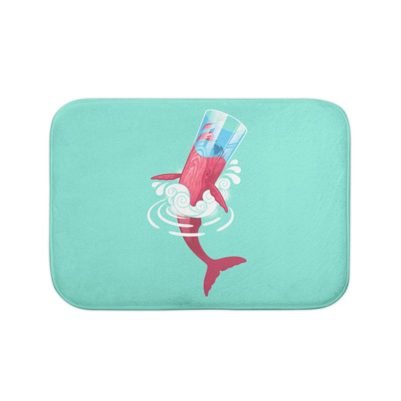 Whale Home Bath Mat by eleken's Artist Shop