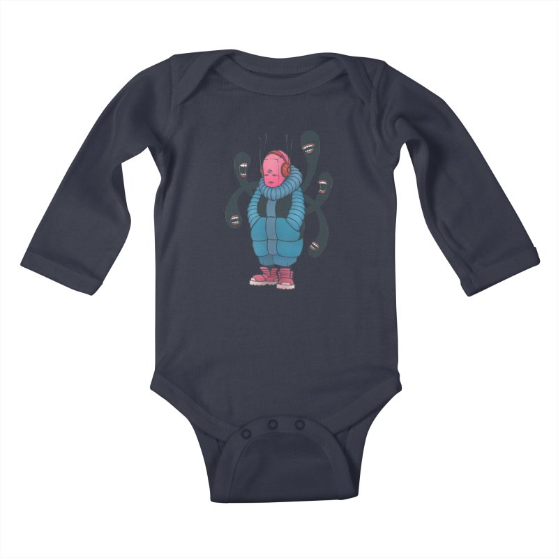 The whisper Kids Baby Longsleeve Bodysuit by eleken's Artist Shop