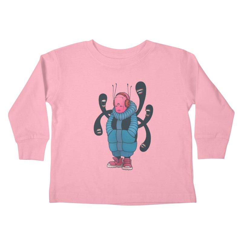 The whisper Kids Toddler Longsleeve T-Shirt by eleken's Artist Shop