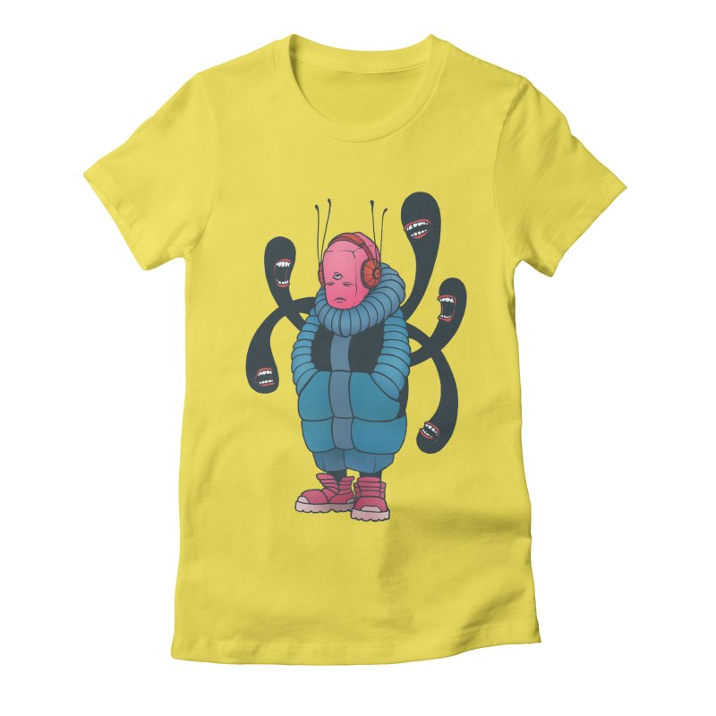 The whisper Women's Fitted T-Shirt by eleken's Artist Shop