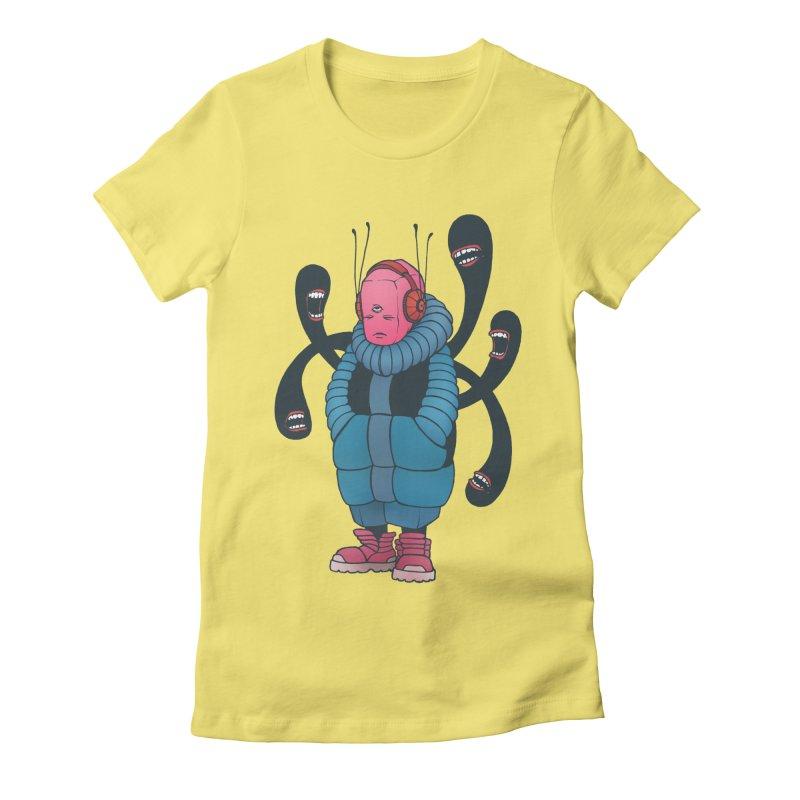 The whisper Women's Fitted T-Shirt by eleken's Artist Shop
