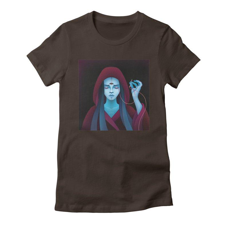 Needles Women's Fitted T-Shirt by eleken's Artist Shop