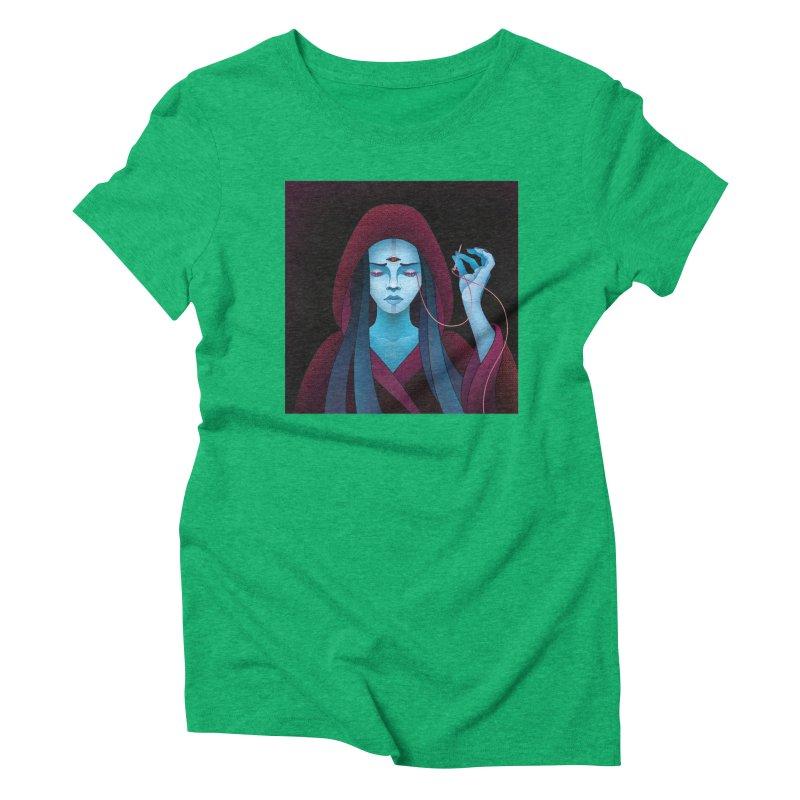 Needles Women's Triblend T-shirt by eleken's Artist Shop