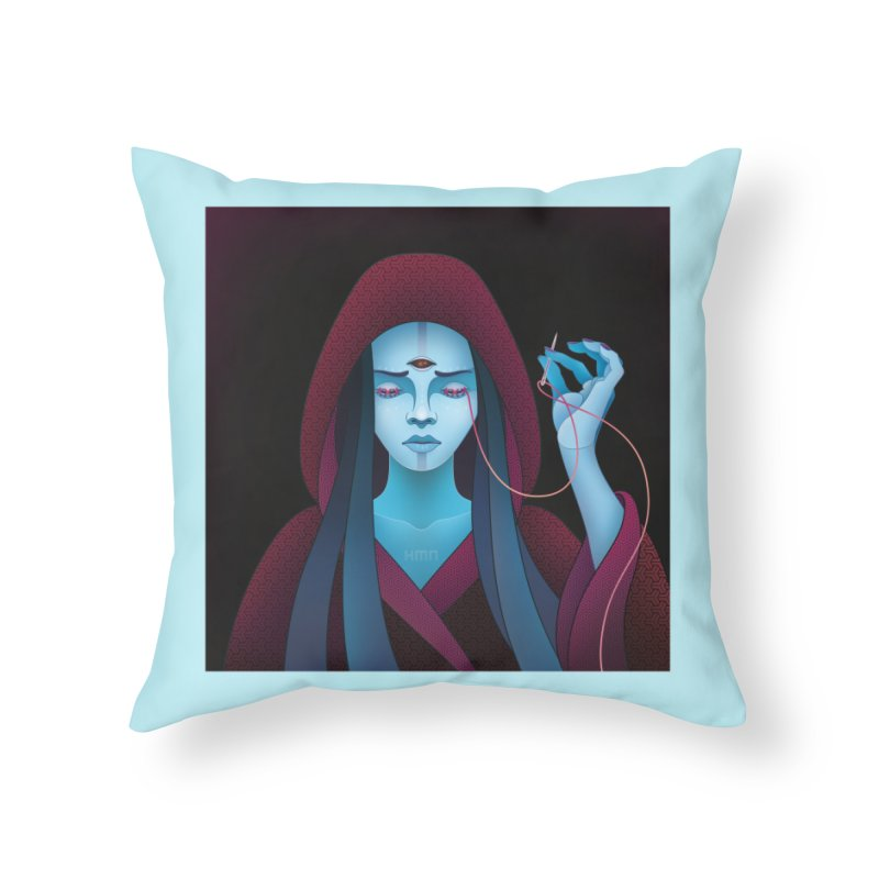 Needles Home Throw Pillow by eleken's Artist Shop
