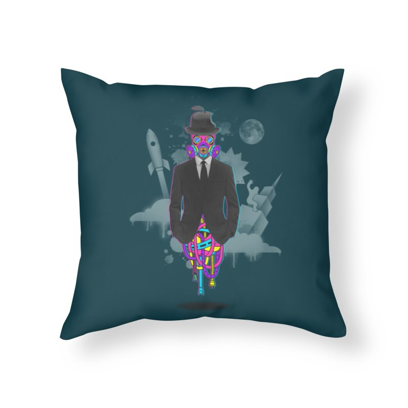 Issues Home Throw Pillow by eleken's Artist Shop