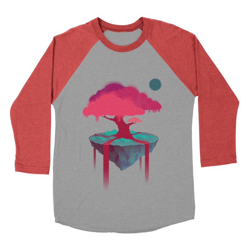 Island Men's Baseball Triblend T-Shirt by eleken's Artist Shop