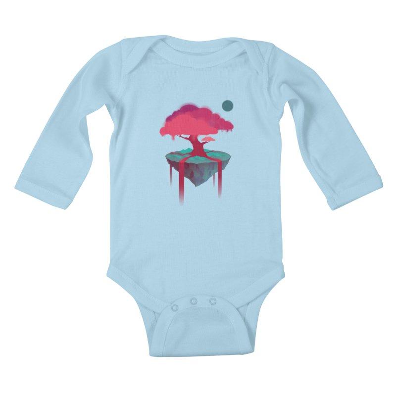 Island Kids Baby Longsleeve Bodysuit by eleken's Artist Shop