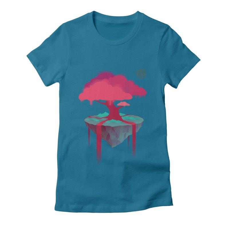 Island Women's Fitted T-Shirt by eleken's Artist Shop