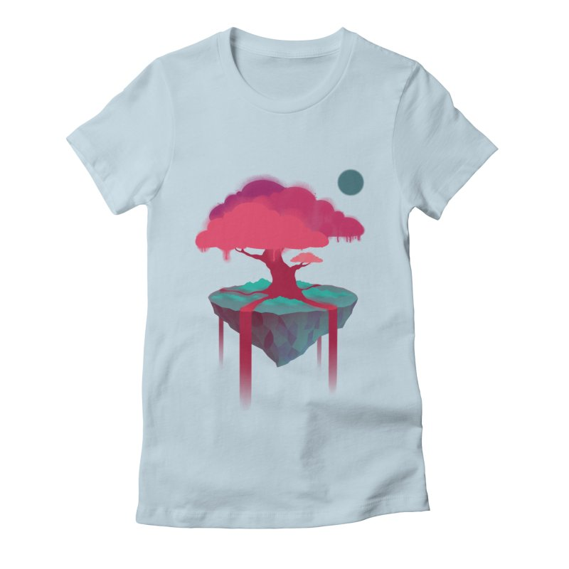 Island Women's Fitted T-Shirt by eleken's Artist Shop