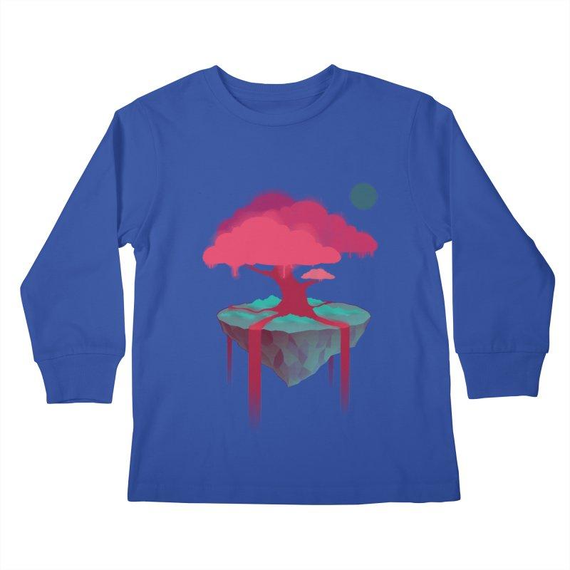 Island Kids Longsleeve T-Shirt by eleken's Artist Shop