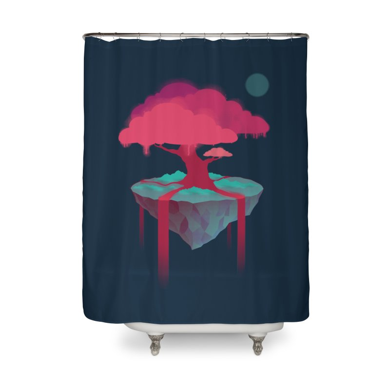 Island Home Shower Curtain by eleken's Artist Shop