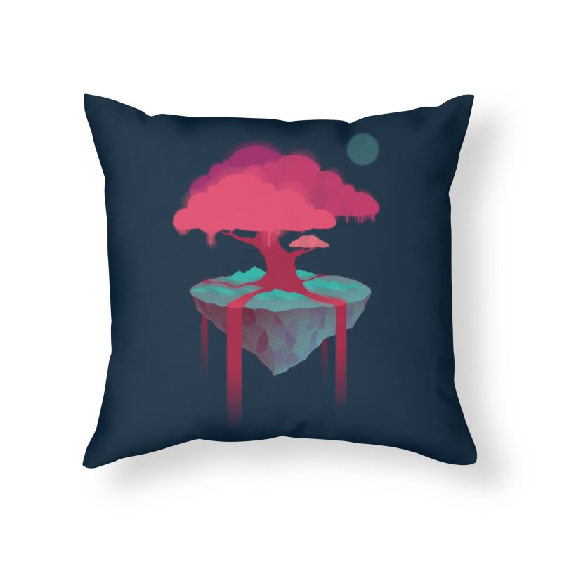 Island Home Throw Pillow by eleken's Artist Shop