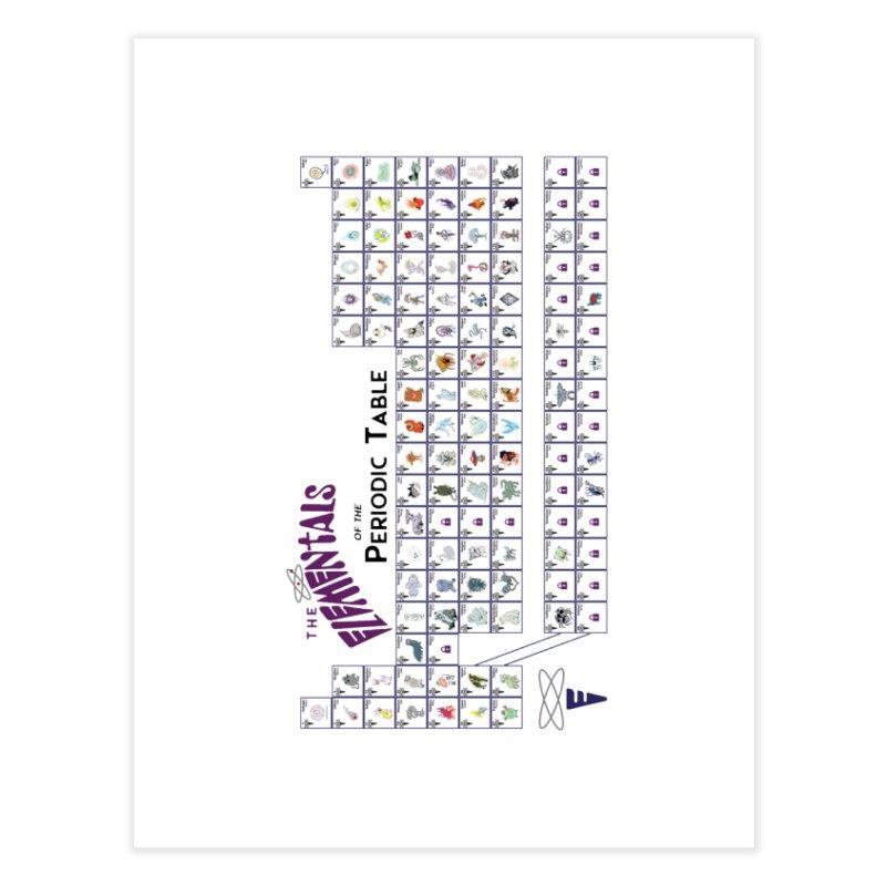 Periodic Table Prints Home Fine Art Print by Elementiad Artist Shop