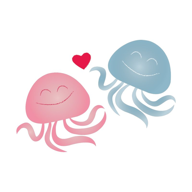 Jellyfish in love   by elenadalia's Artist Shop