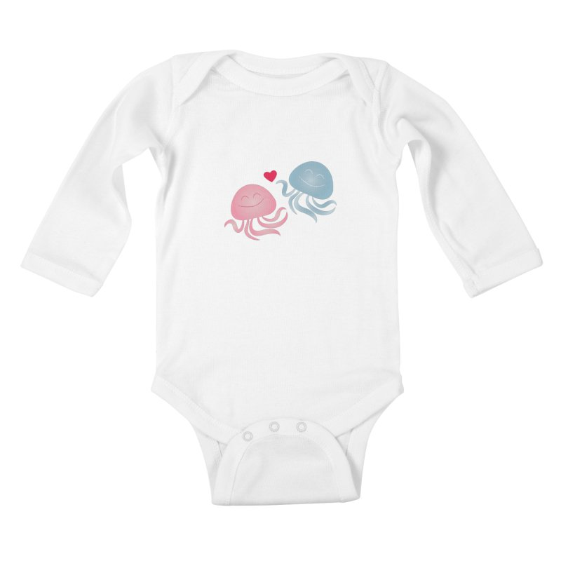 Jellyfish in love Kids Baby Longsleeve Bodysuit by elenadalia's Artist Shop