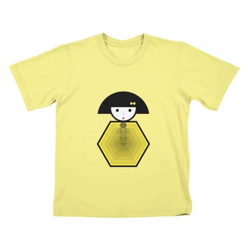 Geometric Matryoshka Kids T-shirt by elenadalia's Artist Shop
