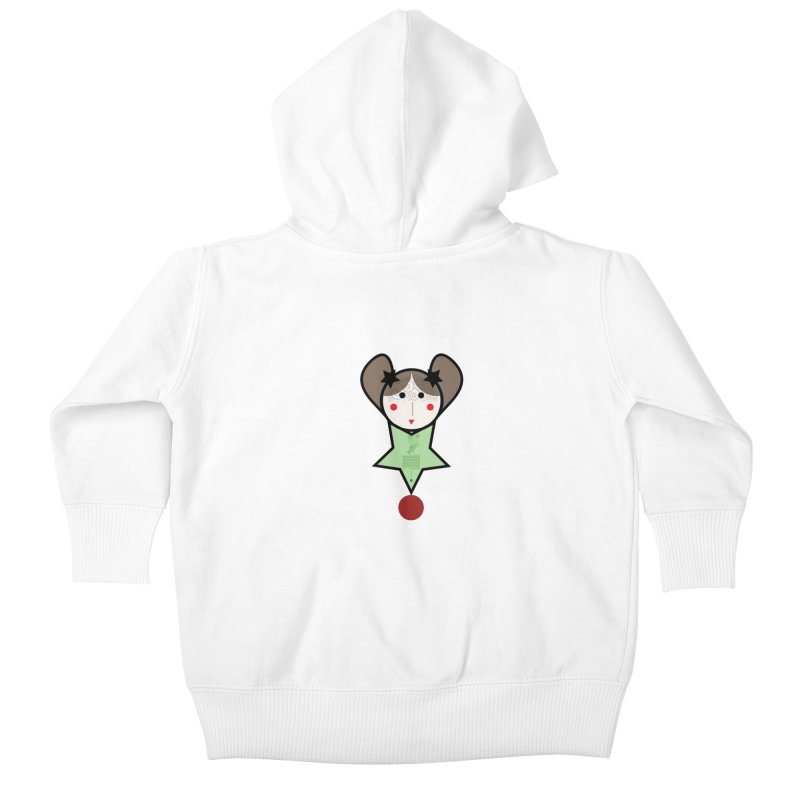 Green equilibrist girl Kids Baby Zip-Up Hoody by elenadalia's Artist Shop
