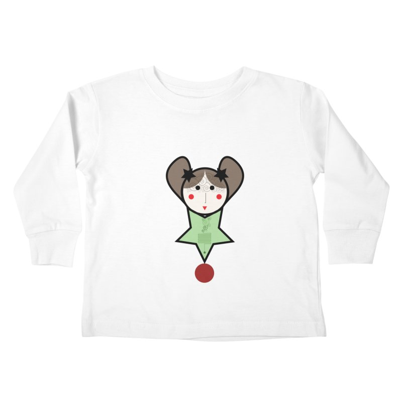 Green equilibrist girl Kids Toddler Longsleeve T-Shirt by elenadalia's Artist Shop