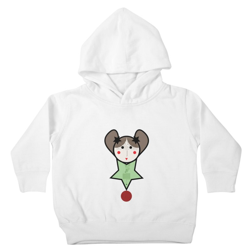 Green equilibrist girl Kids Toddler Pullover Hoody by elenadalia's Artist Shop