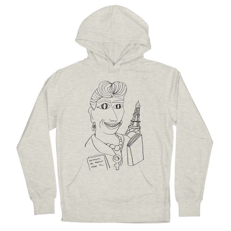Simone de Beauvoir - Illustration by Elena Losada Women's Pullover Hoody by ElenaLosada Artist Shop
