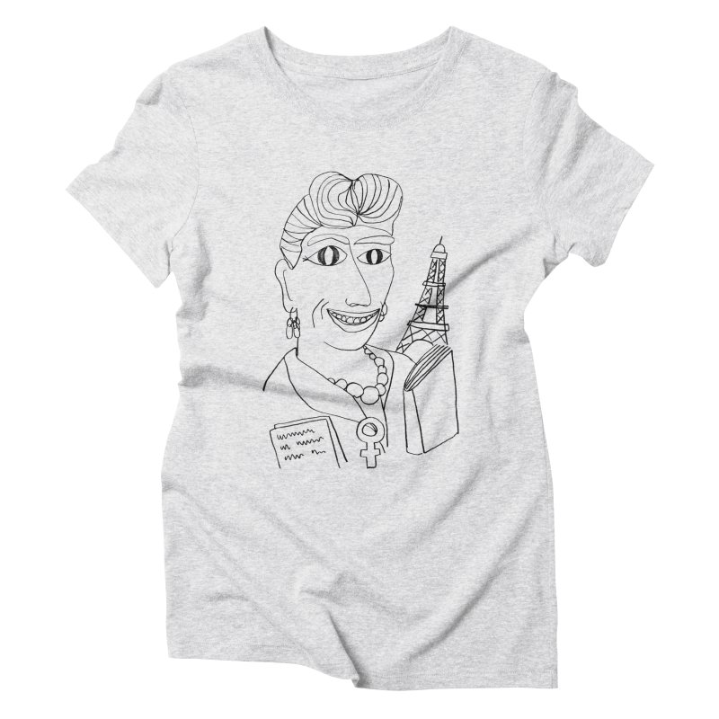 Simone de Beauvoir - Illustration by Elena Losada Women's Triblend T-Shirt by elenalosadaShop's Artist Shop