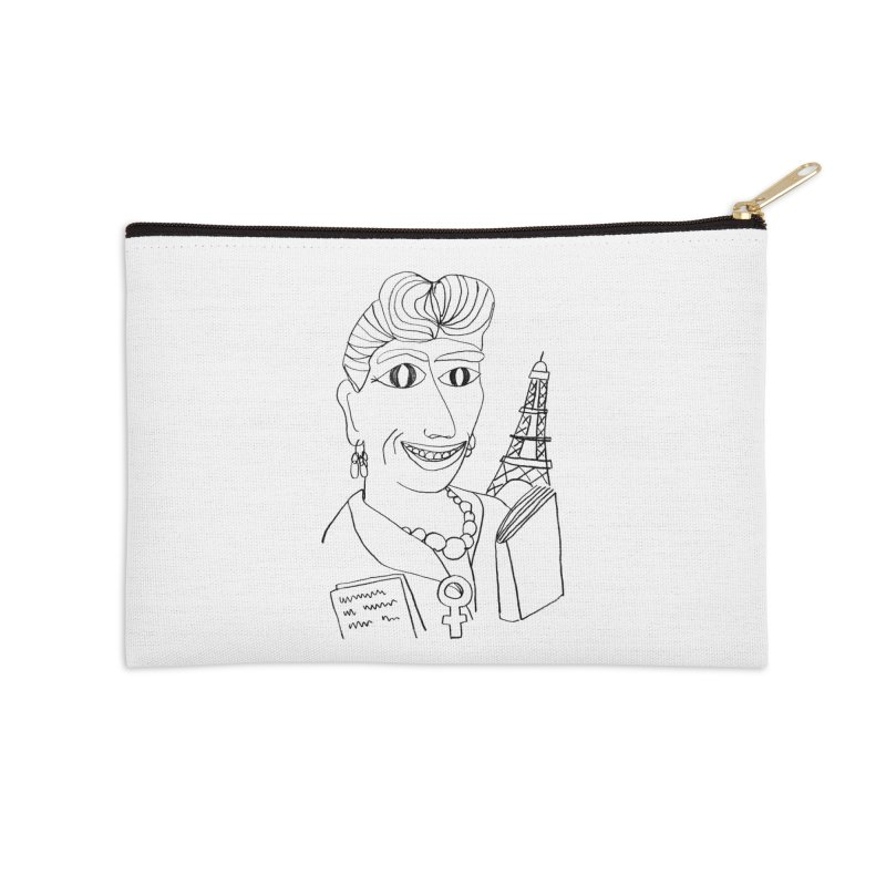 Simone de Beauvoir - Illustration by Elena Losada Accessories Zip Pouch by elenalosadaShop's Artist Shop