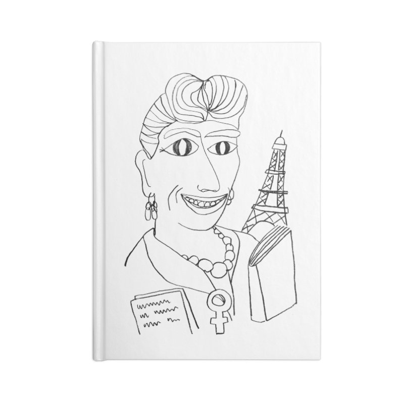 Simone de Beauvoir - Illustration by Elena Losada Accessories Notebook by ElenaLosada Artist Shop