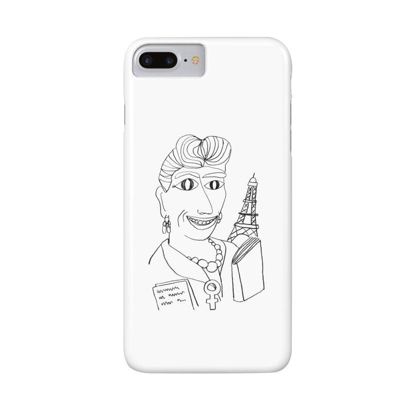 Simone de Beauvoir - Illustration by Elena Losada Accessories Phone Case by elenalosadaShop's Artist Shop