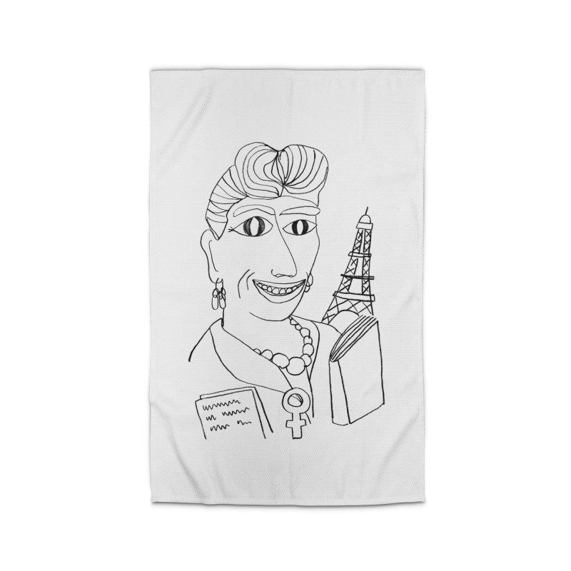 Simone de Beauvoir - Illustration by Elena Losada Home Rug by ElenaLosada Artist Shop