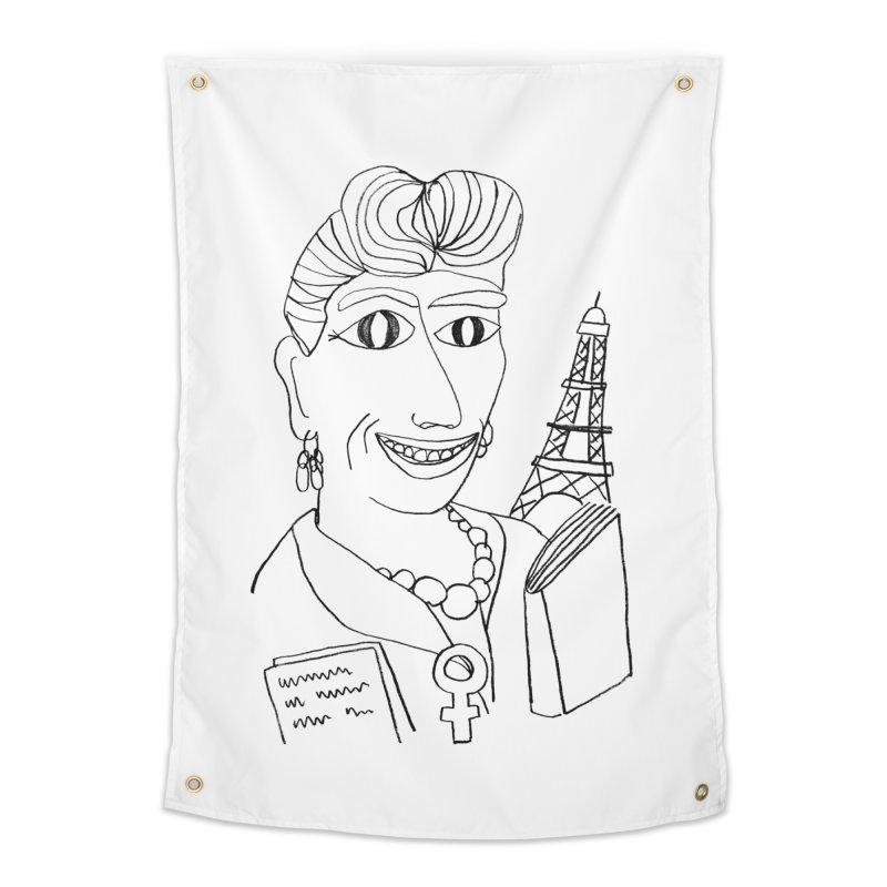 Simone de Beauvoir - Illustration by Elena Losada Home Tapestry by ElenaLosada Artist Shop