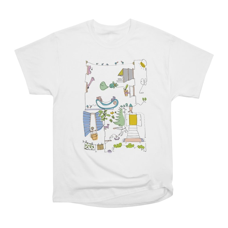 Some doodles in the city by Elena Losada Men's Classic T-Shirt by elenalosadaShop's Artist Shop