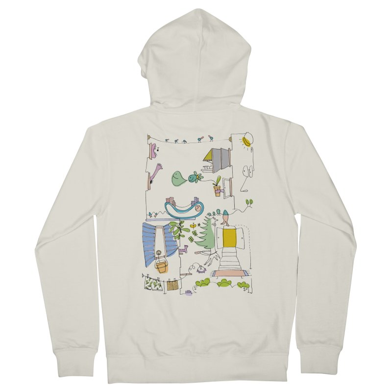 Some doodles in the city by Elena Losada Men's French Terry Zip-Up Hoody by ElenaLosada Artist Shop