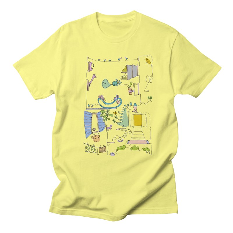 Some doodles in the city by Elena Losada Women's Regular Unisex T-Shirt by ElenaLosada Artist Shop