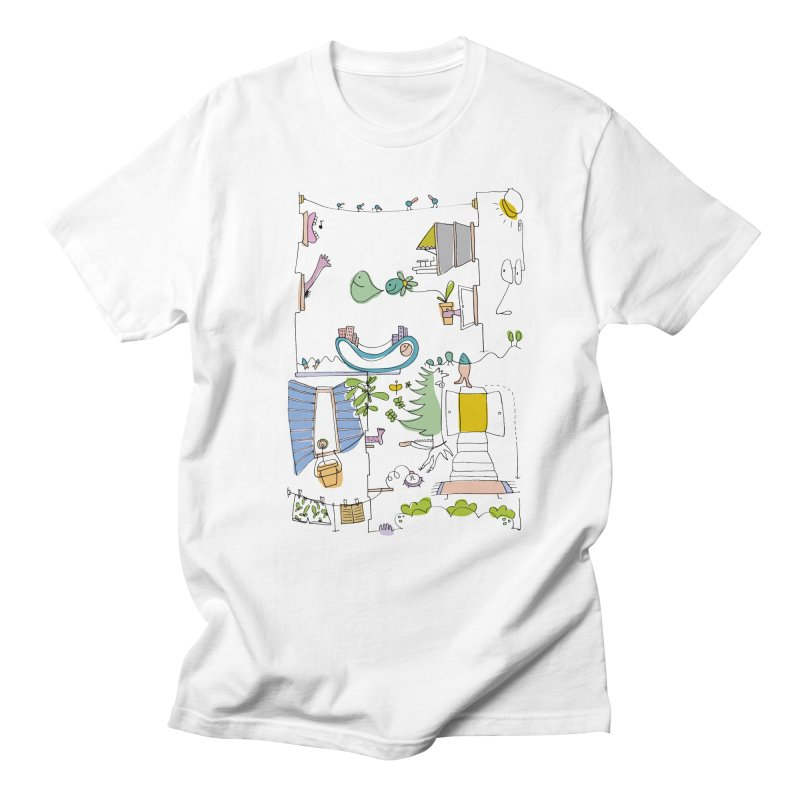 Some doodles in the city by Elena Losada Men's T-shirt by elenalosadaShop's Artist Shop