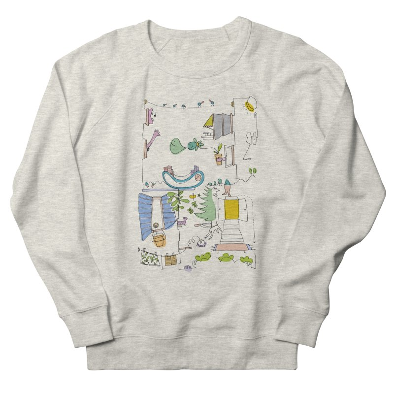 Some doodles in the city by Elena Losada Women's French Terry Sweatshirt by ElenaLosada Artist Shop