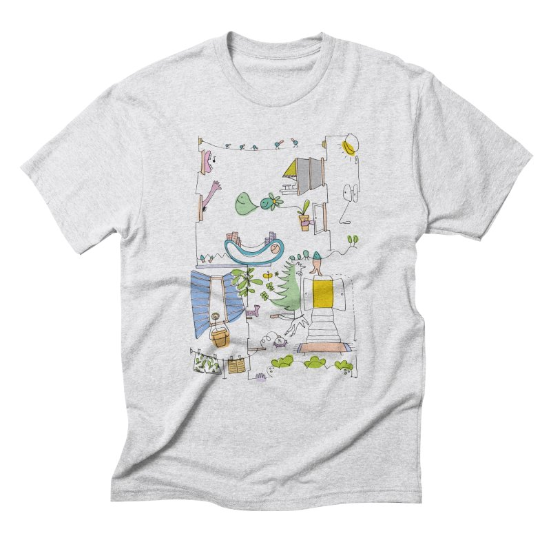 Some doodles in the city by Elena Losada Men's Triblend T-Shirt by ElenaLosada Artist Shop