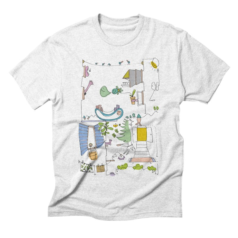 Some doodles in the city by Elena Losada Men's Triblend T-shirt by elenalosadaShop's Artist Shop