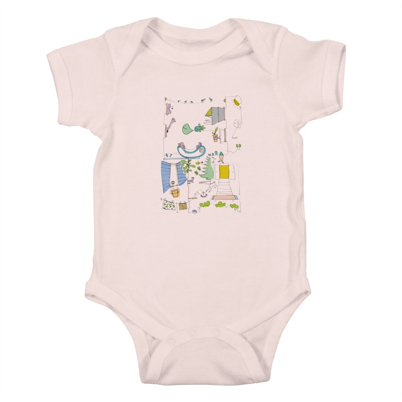Some doodles in the city by Elena Losada Kids Baby Bodysuit by elenalosadaShop's Artist Shop