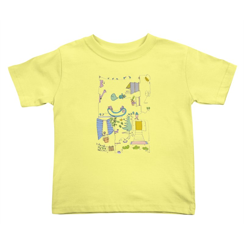 Some doodles in the city by Elena Losada Kids Toddler T-Shirt by elenalosadaShop's Artist Shop