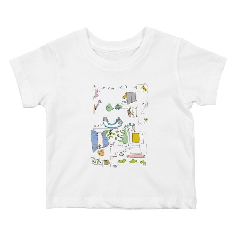 Some doodles in the city by Elena Losada Kids Baby T-Shirt by elenalosadaShop's Artist Shop