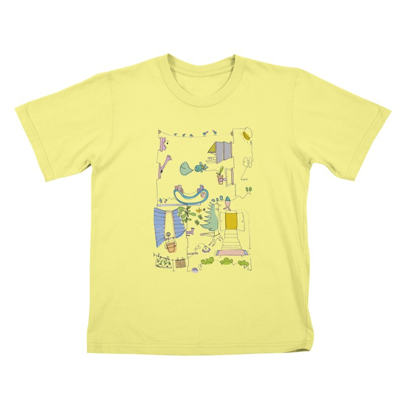 Some doodles in the city by Elena Losada Kids T-shirt by elenalosadaShop's Artist Shop
