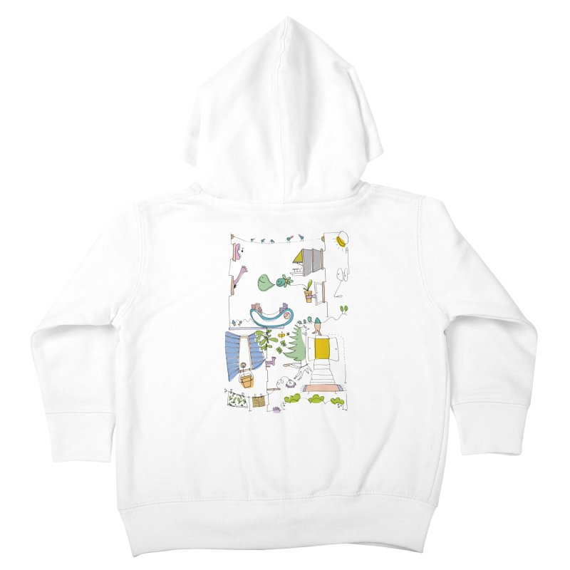 Some doodles in the city by Elena Losada Kids Toddler Zip-Up Hoody by elenalosadaShop's Artist Shop