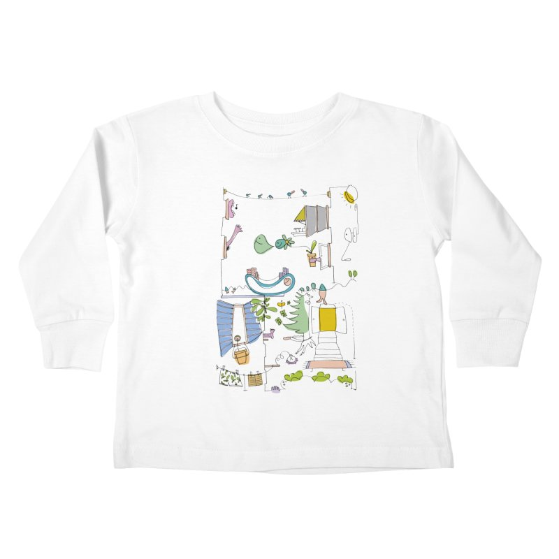 Some doodles in the city by Elena Losada Kids Toddler Longsleeve T-Shirt by elenalosadaShop's Artist Shop