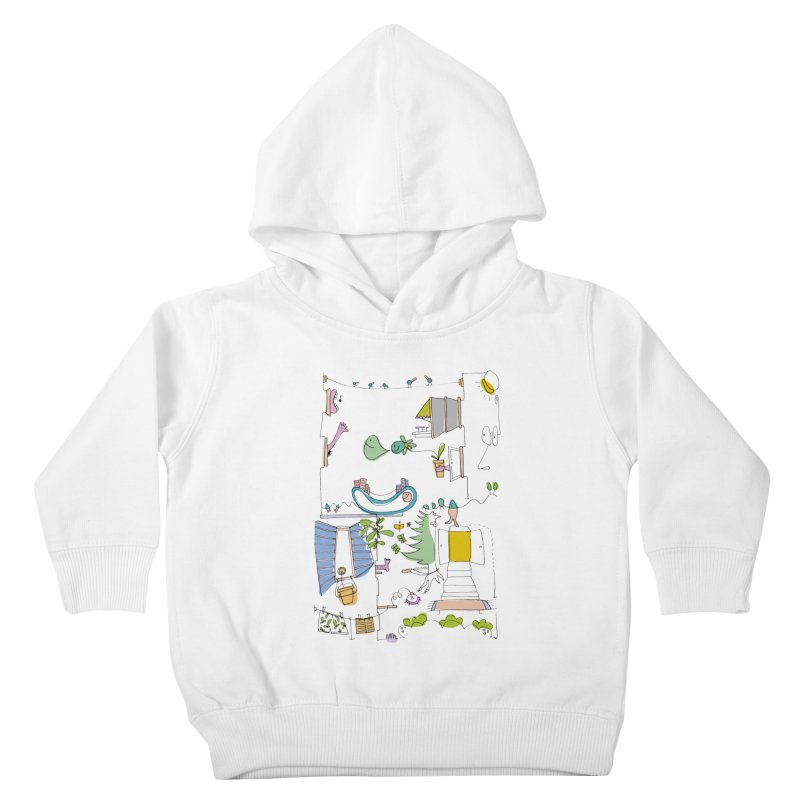 Some doodles in the city by Elena Losada Kids Toddler Pullover Hoody by elenalosadaShop's Artist Shop