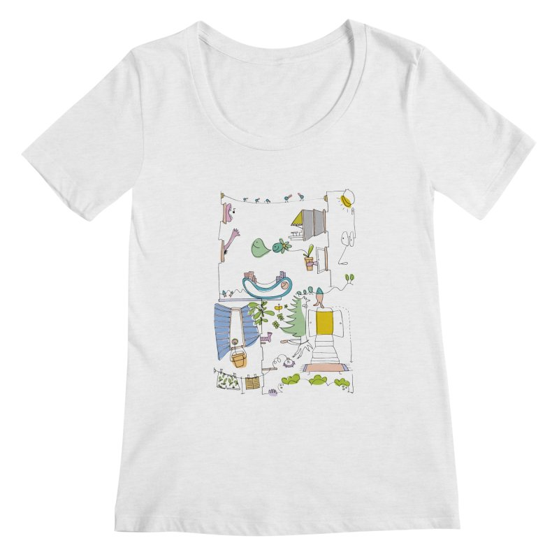 Some doodles in the city by Elena Losada Women's Regular Scoop Neck by ElenaLosada Artist Shop
