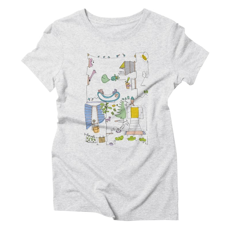 Some doodles in the city by Elena Losada Women's Triblend T-Shirt by elenalosadaShop's Artist Shop