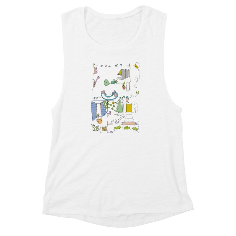 Some doodles in the city by Elena Losada Women's Muscle Tank by ElenaLosada Artist Shop